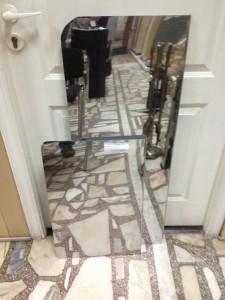 Предтопочный лист нержавейка зеркальная 40х60, 40х100 см
