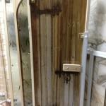 Арт-серия (Старая дверь),стеклянная дверь с уф печатью,стеклянная дверь для парной,