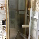 дверь бронза,стеклянная дверь под бронзу,