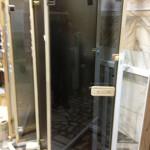 Дымчатая стеклянная дверь,стеклянная дверь для сауны,