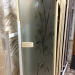 фьюзинг (Бамбук),дверь для парной,стеклянная дверь для парной,